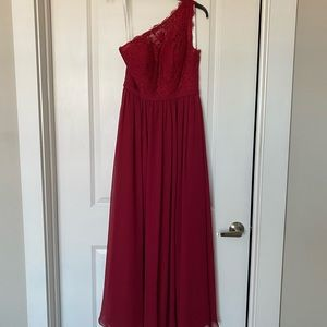 Azazie burgundy bridesmaid dress
